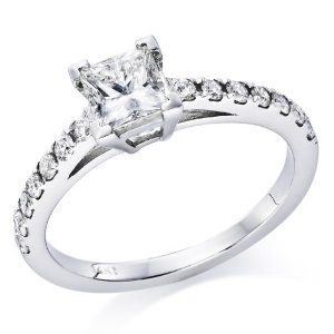 3/4 ct. Princess Cut Diamond Solitaire Engagement Ring in 14k White Gold --- http://www.pinterest.com.tocool.in/2js