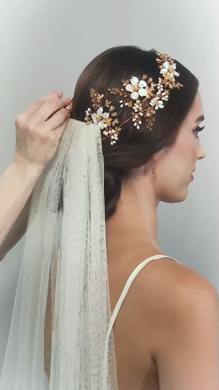 FLORIANA HEADDRESS  wedding garland flower crown wedding tiara wedding hair wedd…