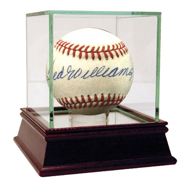 Ted Williams Signed OAL Brown Baseball (JSA Auth)