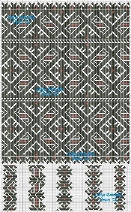 Lidiya Bebeshko Art  8.3. Схема (як варіант) частини нарукавної композиції жіночої сорочки поч. ХХ ст. з Вінниччини, Східне Поділля.