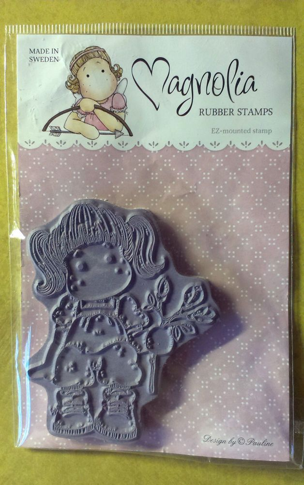 Tilda with Magnolia Branch Cling Rubber Stamp - 8cm x 6.5cm image - new