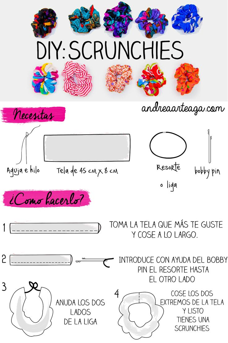 Andrea | ♡♡♡: Formas de llevar una dona para el cabello + DIY | The 90´s Week Scrunchie, scrunchies, DIY: Scrunchie,
