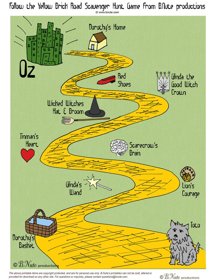 Your Wizard of Oz Game -- what to do with all the munchkins? Look no further-- here's the perfect free printable game to get them on their way down the yellow brick road-- A Wizard of Oz Scavenger Hunt!