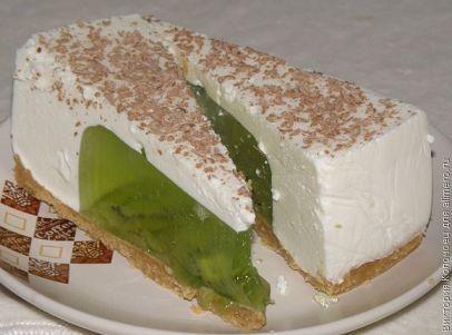 Мобильный LiveInternet Торт без выпечки с начинкой из желе с киви. | Шрек_Лесной - Дневник Шрек Лесной |