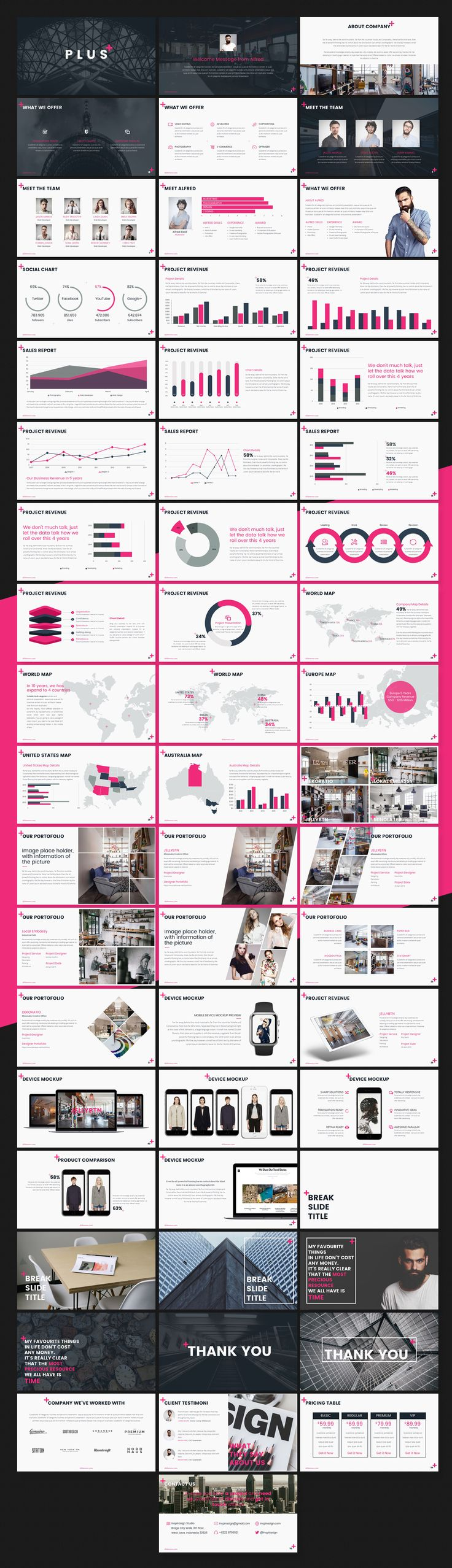 PLUS Powerpoint Template by SlideMore on @creativemarket