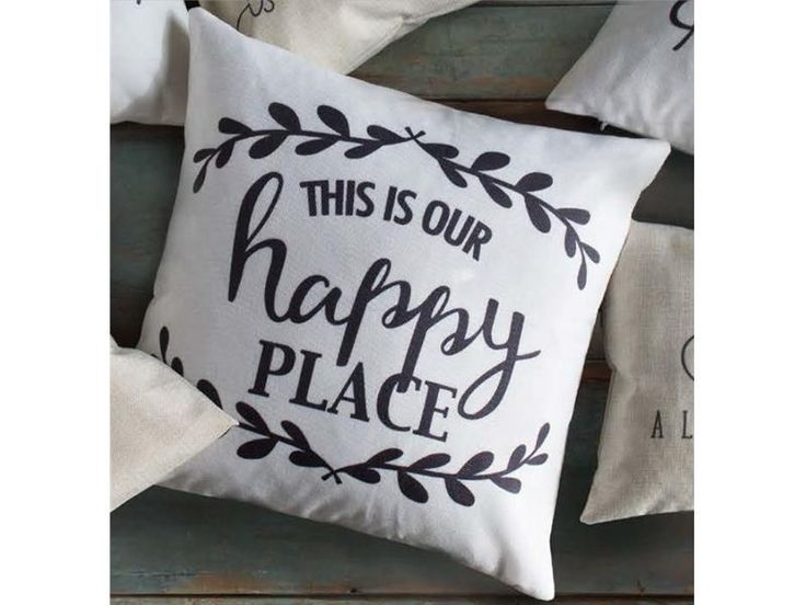 Happy place Pillows http://inspiredethos.uppercaseliving.net/Home.m