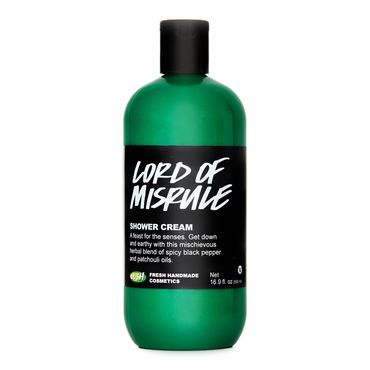 This is the Lord of Misrule Shower Cream.   Description: Mischievously herbal  A feast for the senses! Get down and earthy with this mischievous, herbal blend of patchouli, peppercorn and black pepper with an intriguing fair trade vanilla sweetness.   How to Use: Basically it is like shower gel except it has more of a creamy texture (that's what I heard). Pop some out of the bottle and lather onto your skin, then wash thoroughly.