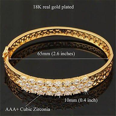 Twirllinks Gull Armring med AAA+ Zirconia Stein  #armring #damesmykker #smykker #salg #nettsalg #finn #twirllinks #fashion #jewelries #accesories