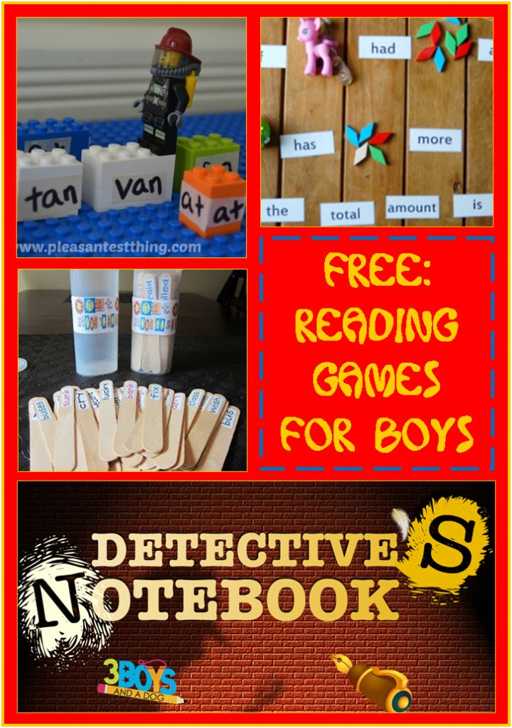 Here are some of the best reading games for boys to keep their bodies in motion while engaging their minds!
