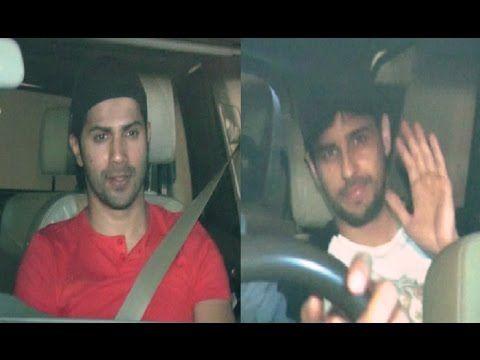 SPOTTED ! Sidharth Malhotra & Varun Dhawan at Karan Johar's house.