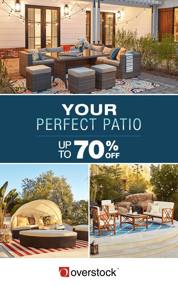 Start saving up to 70% off patio essentials during Overstock's Biggest Ever Memorial Day Sale! Hurry! Sale ends Monday, May 29th.