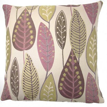 Lilac Leaf Cushion Cover   Dunelm