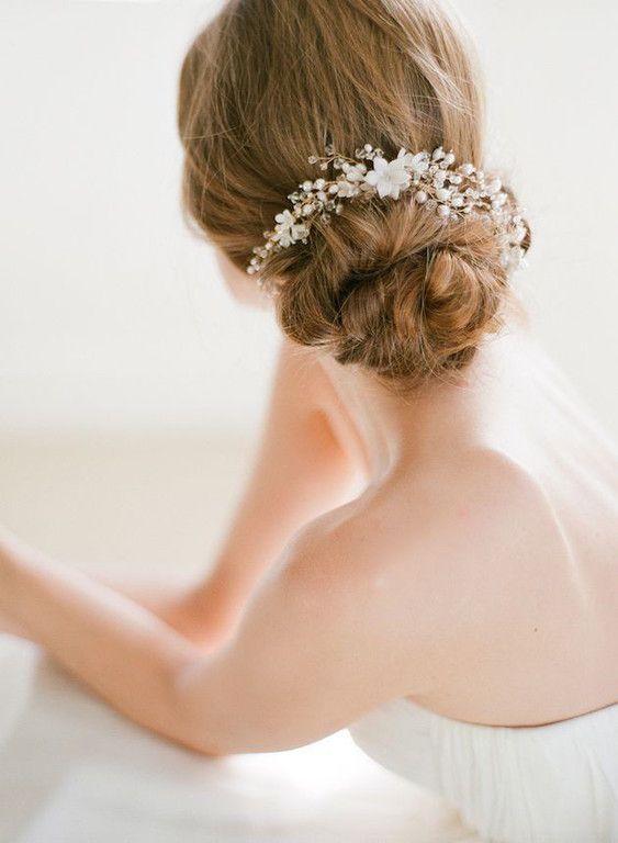Low bun upstyle wedding hair inspiration bridal musings wedding blog 10 630x860