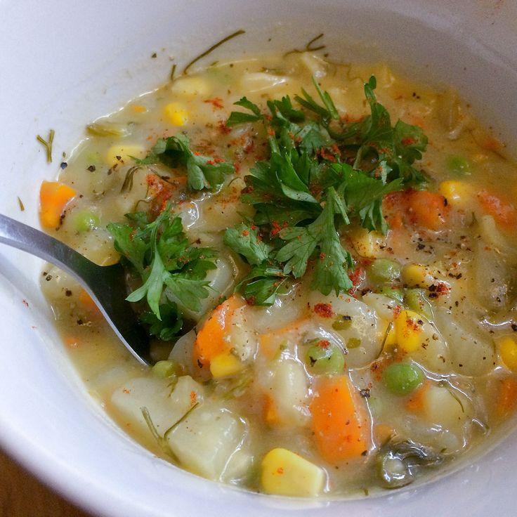 chaudrée de fenouil, soupe, maïs, pommes de terre