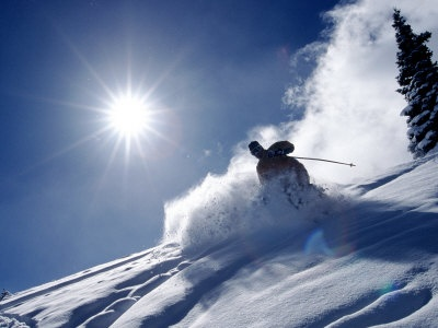 Downhill skiing on the Alpes or in Lapland