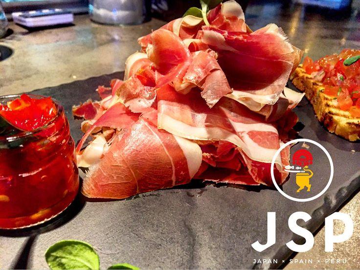 Jamon iBerico De BeLLota***** Street Food Feast \m/ Lunch Menu @ Cinco  #cinco #jsp #japan #spain #peru #nikkei #restaurant #tapas #athens #kolonaki #skoufa #endlessdream #cinco_athens #pisco #sake #ceviche #tiradito #tigersmilk #cincoathens #markadakisteam http://www.cincoathens.com