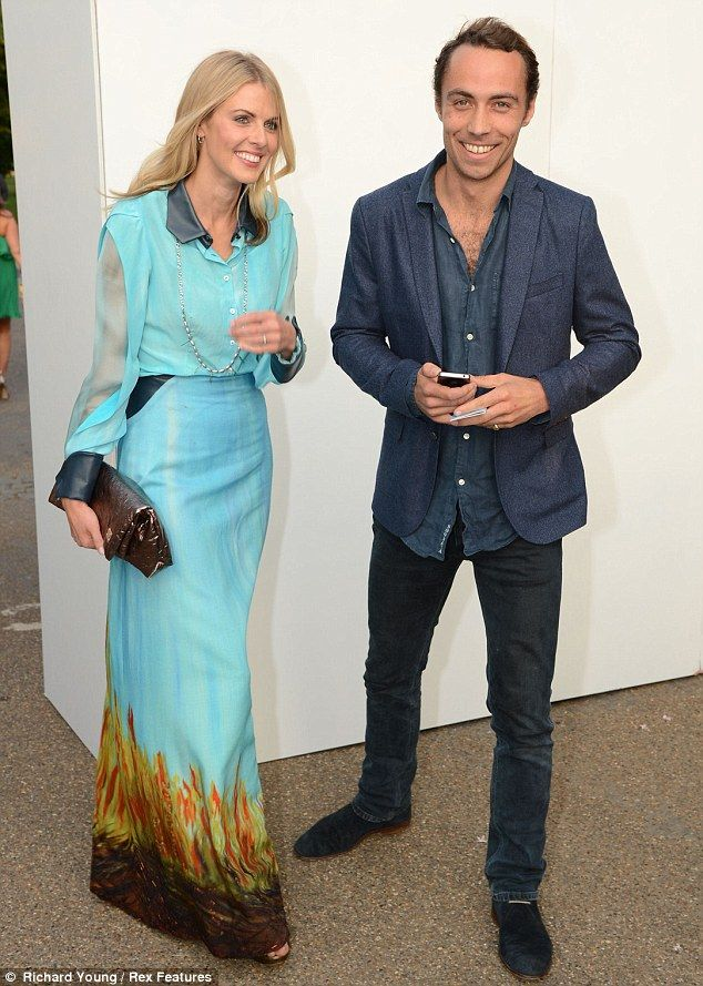 TV presenter Donna Air and James Middleton, who have been dating since February, at Serpentine Gallery summer party, June 2013