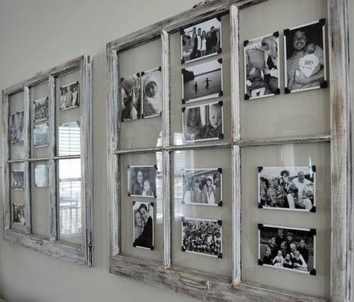 1000 images about old frames and doors on pinterest for Using old windows as picture frames