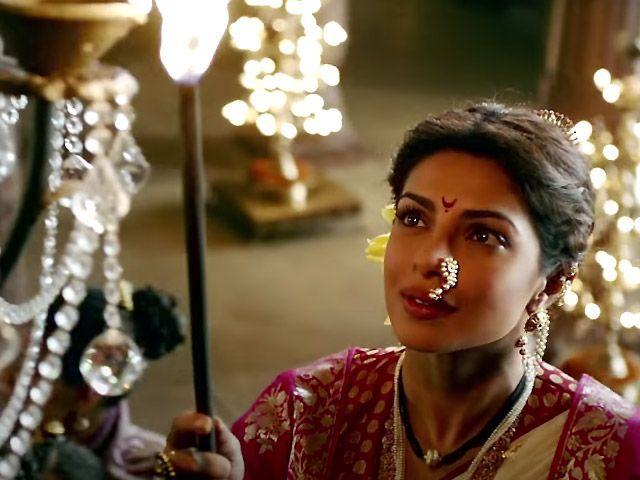 Priyanka Chopra To Wear85 Paithani Nauvaris In Bajirao Mastaani Considering The Film Is A Period Drama That Dep Priyanka Chopra Mastani Deepika Padukone Style