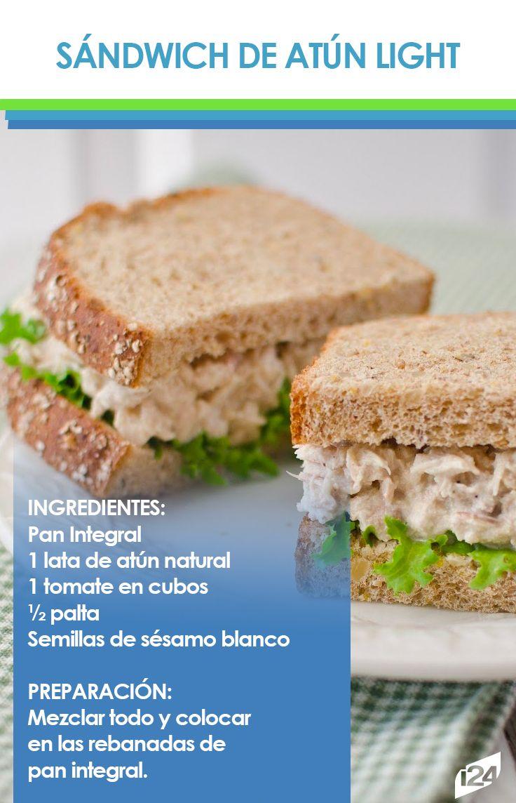 Una excelente opción para tus desayunos #Light #sandwich #Receta #Desayuno #Food #Saludable