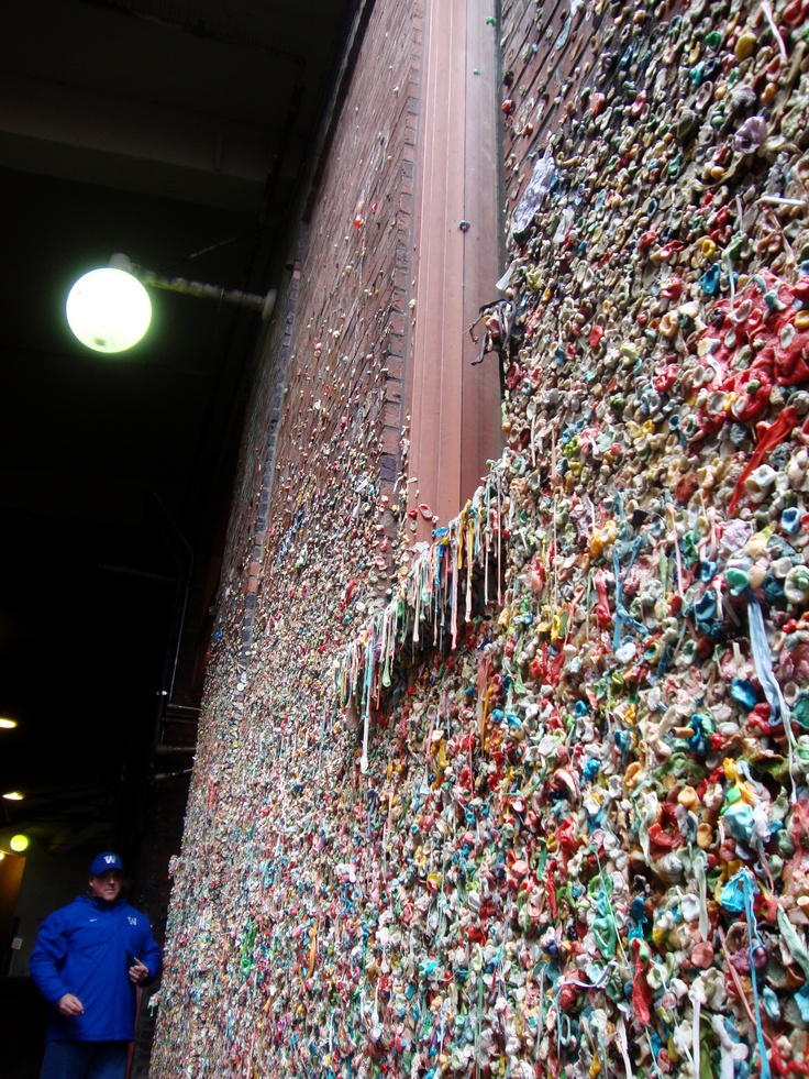 The Famous Gum Wall, Seattle , Washington,  More info on how it started if you google Seattles Gum wall