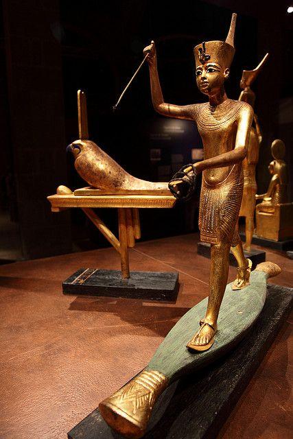 Tutankhamun en Barcelona / recreación del interior de la tumba