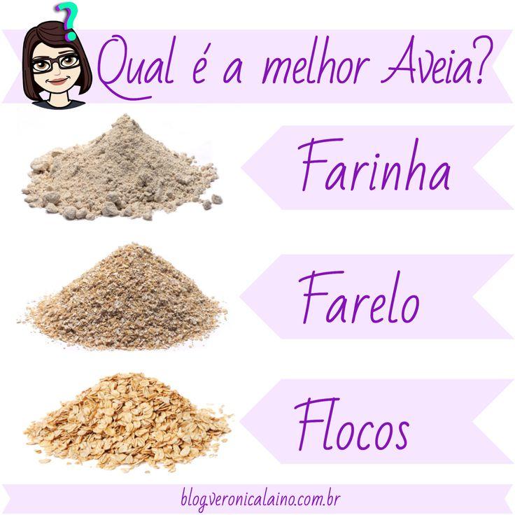 Farelo, farinha, flocos de aveia Veronica Laino