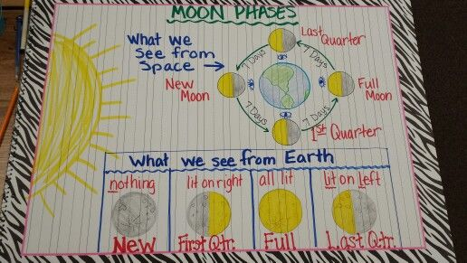 Moon phases, science, anchor chart
