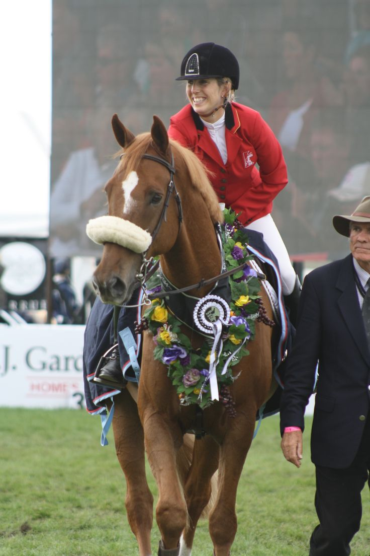 Katie McVean and Dunstan Springfield, winners of the Olympic Cup with the only double clear round in the competition