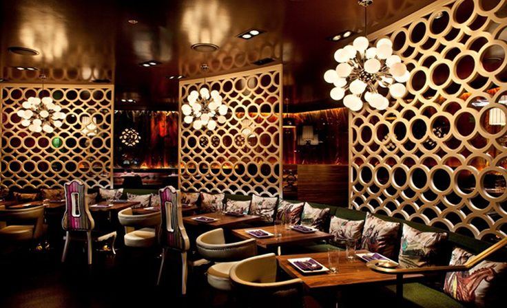 Luxury and modern restaurant interior design with american