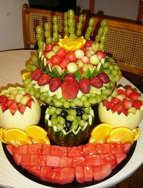 frutas decoradas arreglos frutales fruit arrangements pinterest. Black Bedroom Furniture Sets. Home Design Ideas