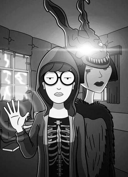 """Jajajaja...Muy buena esta """"cómic pic"""" mi Fercho... """"Daria Darko"""", a propósito de una de las películas más complicadas de todos los tiempos: """"DONNIE DARKO""""...!!!"""
