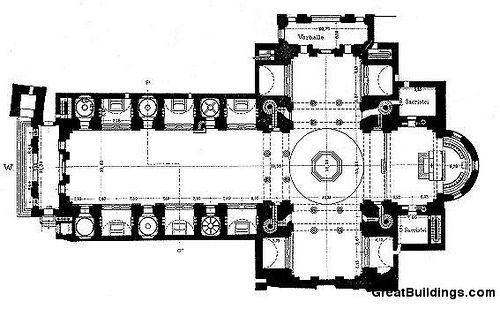 San Andrea, Mantua - Leon Battista Alberti- 1470- Plan