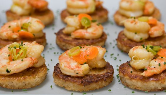 Carolina Gold Rice Grits Cakes with Pickled Shrimp Rice ...