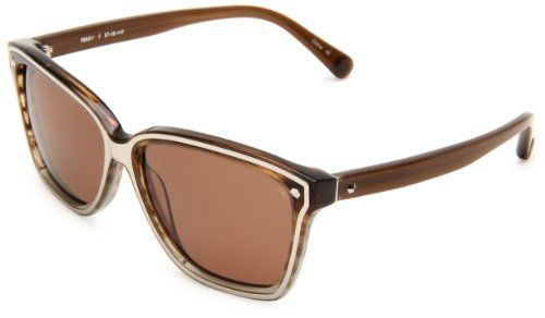 Rebecca Minkoff Perry Square Sunglasses,Blue Brown & Silver Frame/Rose Lens,One Size Rebecca Minkoff. $70.46. Made in China. Case Included^Lenses are prescription ready (Rx-able). Save 53%!
