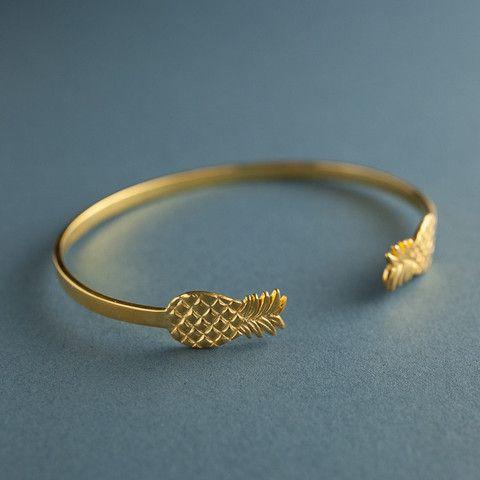 Anna & Nina   Pineapple Cuff bracelet   Gold  Buy Anna+Nina online jewerly at: http://vbinspiration.com/