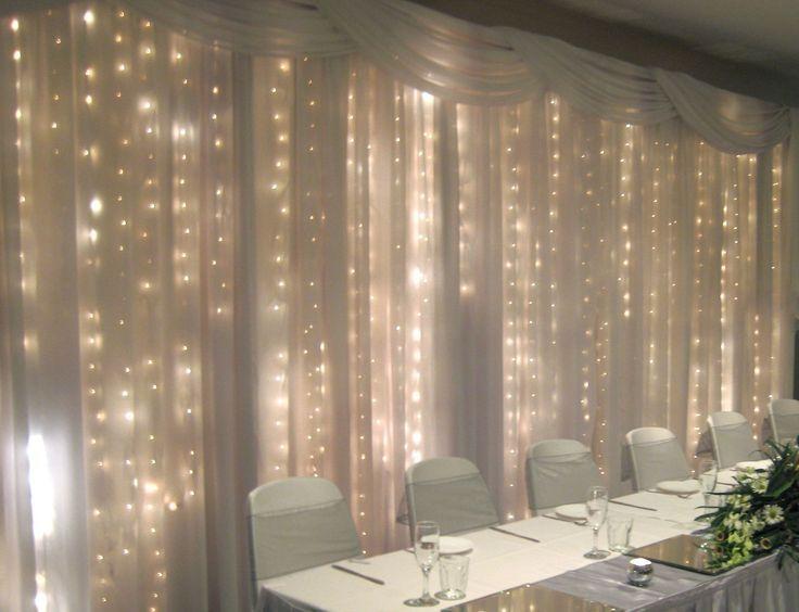 17 Best Ideas About Head Table Backdrop On Pinterest: 25+ Best Ideas About Curtain Backdrop Wedding On Pinterest