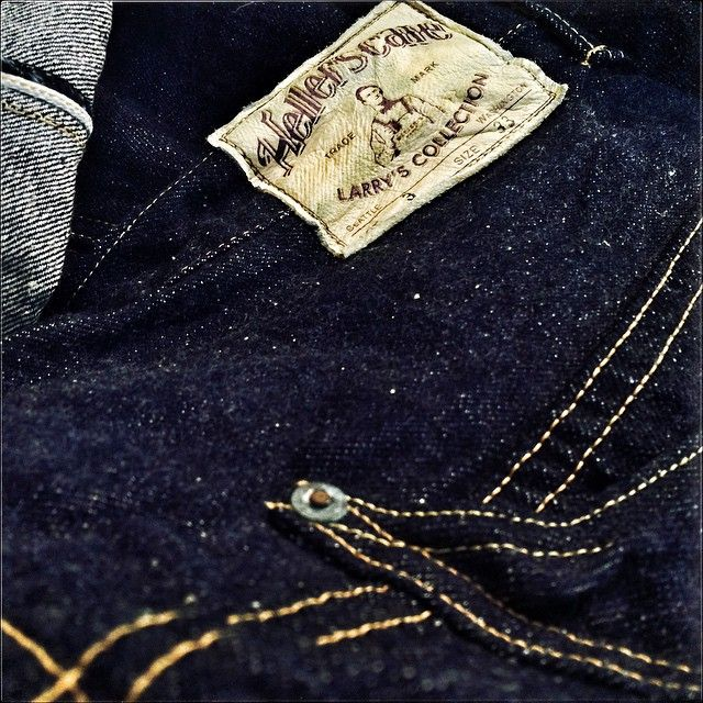 Unrivaled love to detail! On this pair of Heller's Cafe HC-205 Nonpareil jeans the name tells the story in terms of authenticity&aesthetic quality. @hellerscafeofficial
