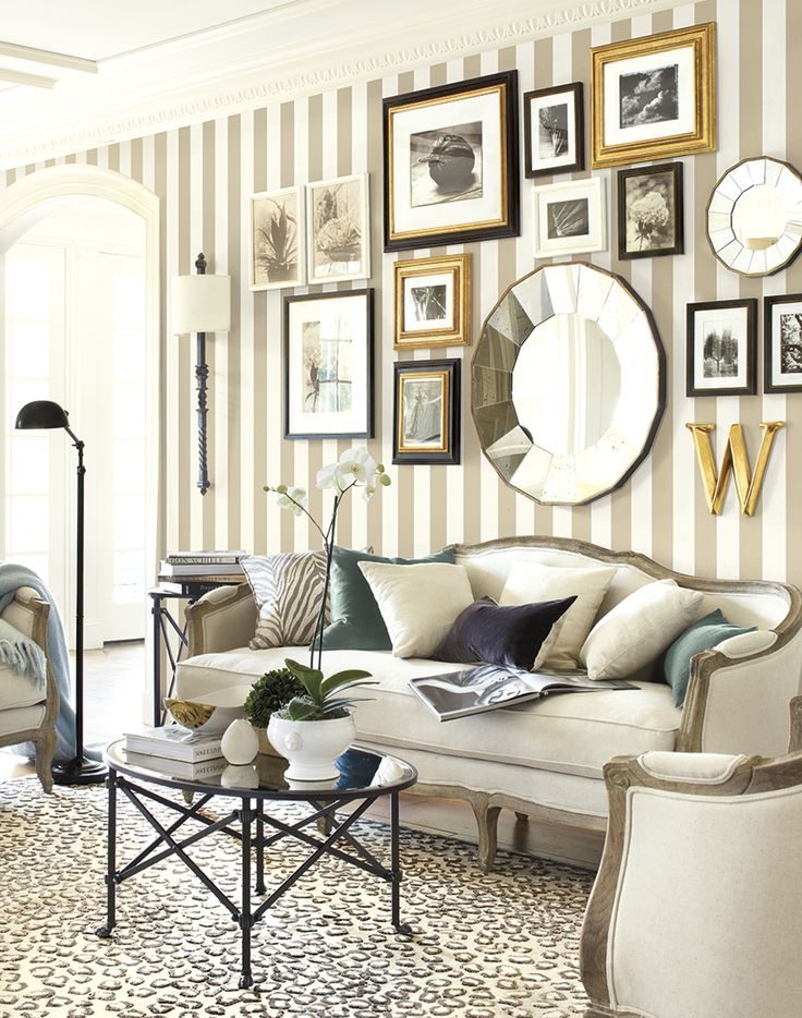 Living Room with Gallery Wall from Ballard Designs