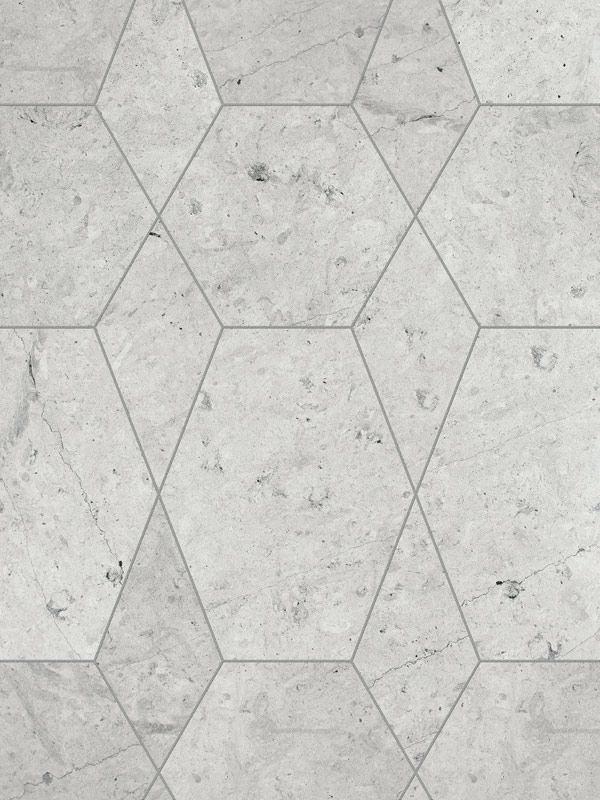 Concrete Floor Tiles With Br Inlay Hexagon Limestone Flooring Pattern