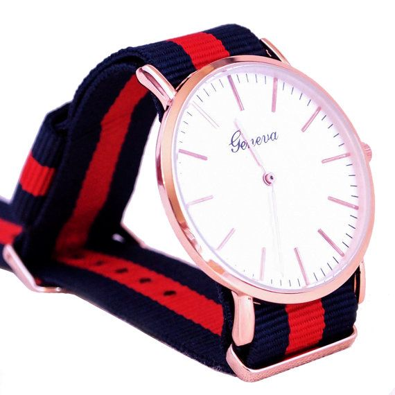 Mens Watch Mens Gift Mens Watch Nylon Strap Womens Watch by MODHUB