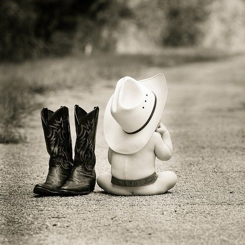 : Cowboys Hats, Photo Ideas, Cowboys Baby, Little Cowboys, Pics Ideas, Baby Pictures, Cowboys Boots, Photo Shoots, Country Baby