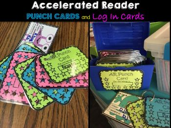 Accelerated Reader Punch Cards and Log In Cards(monster theme log in cards not included, available in my store)~ Give a punch on the card for every 100% on an AR Test.~Great MOTIVATORS for students. Earn a treasure for every ten punches filled on the card.