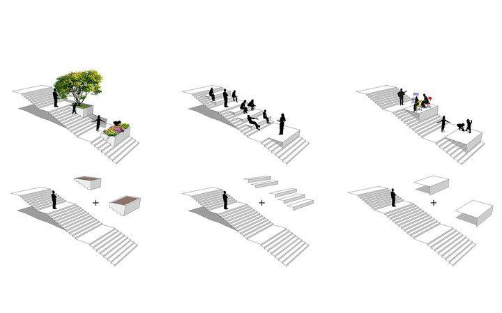 A revitalização da escadaria do Cambuci pretende ressaltar o espaço público como um ponto de conexão entre os moradores do bairro paulistano.