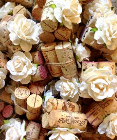 rustic wedding style with a gorgeous twist our single cork succulent bloom place card holders start with a vintage wine cork