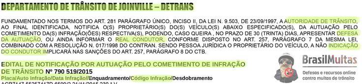 Editais do Detrans concedem prazos para defesas da autuação/recursos contra multas de trânsito e indicação de condutor infrator 11.12.15 74550 +http://brml.co/1MaV7Z9