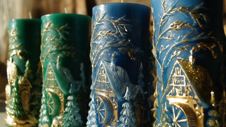 """collection of candles """"mill"""" kolekcja świec """"młyn"""""""