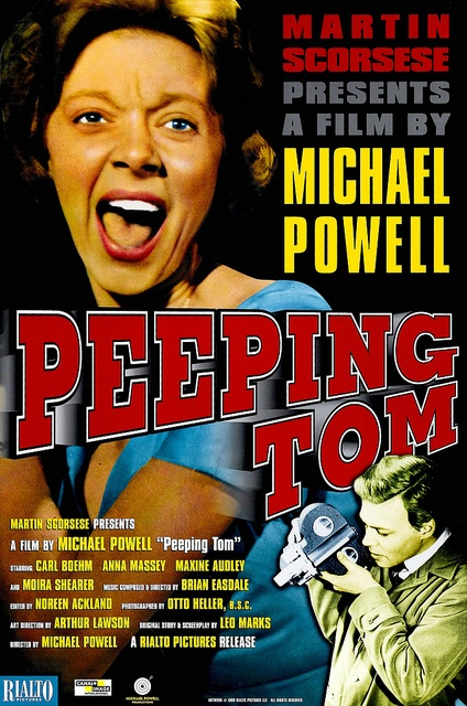 Peeping Tom - Hollywood exiled Michael Powell after this wonderful film but it remains a stunning study of a very disturbed mind.