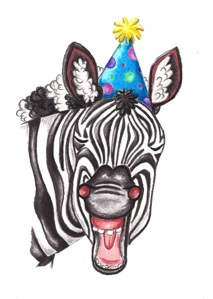 """""""Party Zebra"""". Pastel on Art Paper. Available as an original, prints or greeting cards."""