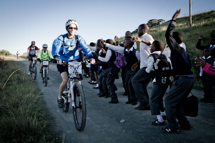 Mountain bike race to support local Umngazi community on the Wild Coast of the Eastern Cape in South Africa.